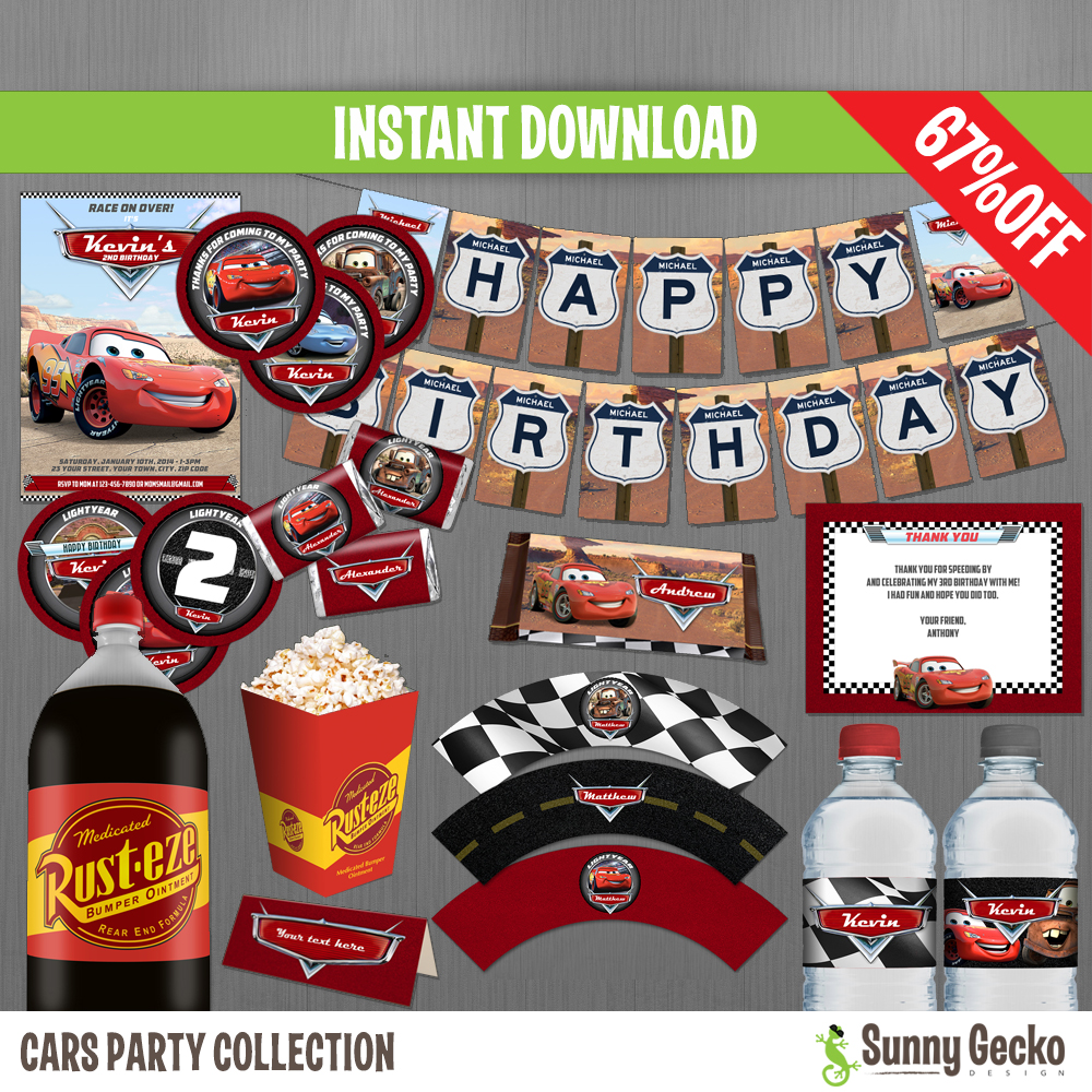 Disney Cars Birthday Party Collection