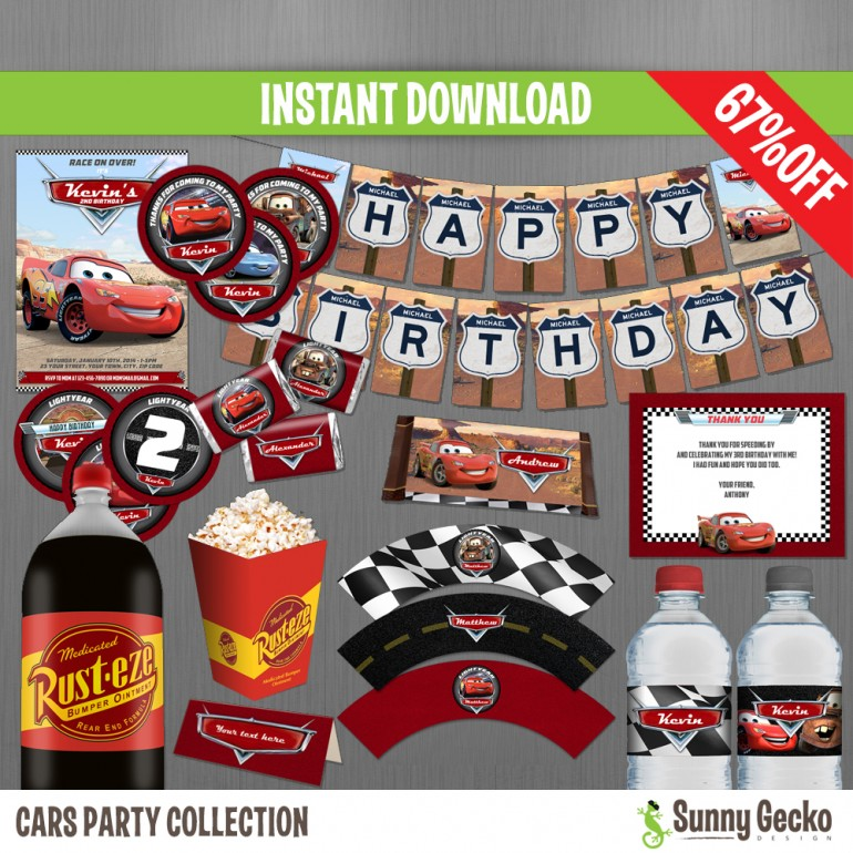Cars Birthday Party Collection