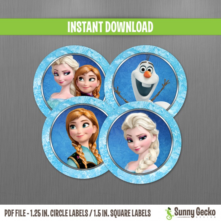 Frozen Birthday 1.25 in. Circle Labels