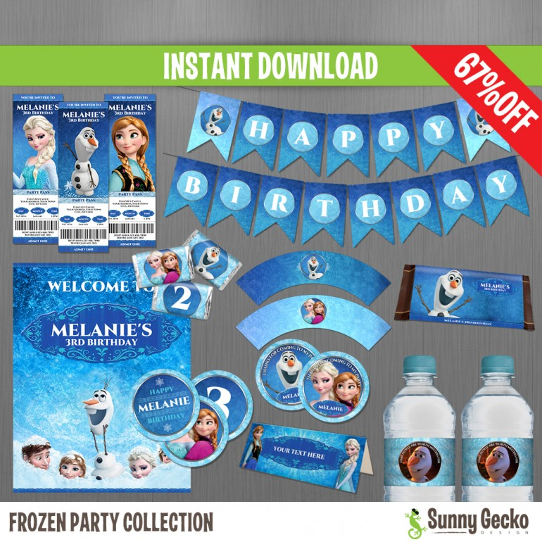 Frozen Birthday Party Collection