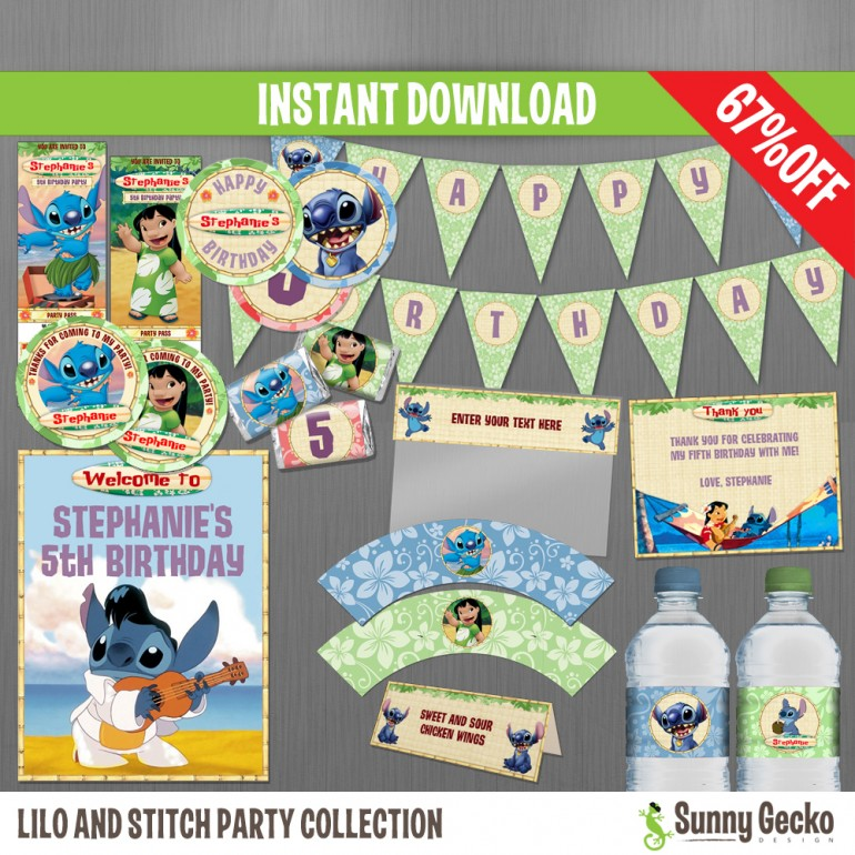 Lilo and Stitch Birthday Party Collection