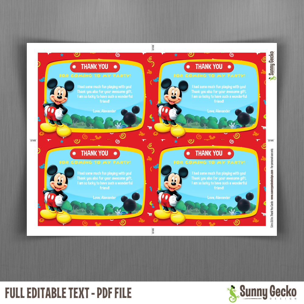 Mickey Mouse Clubhouse 7x5 in. Birthday Party Invitation ...