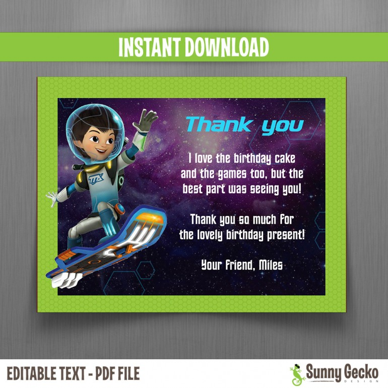 Miles from Tomorrowland Birthday Thank You Cards
