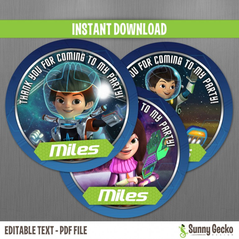 Miles from Tomorrowland Favor Tags