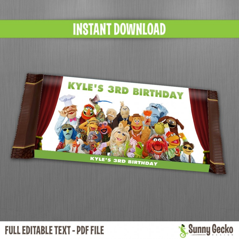 Muppets Birthday Chocolate Wrappers