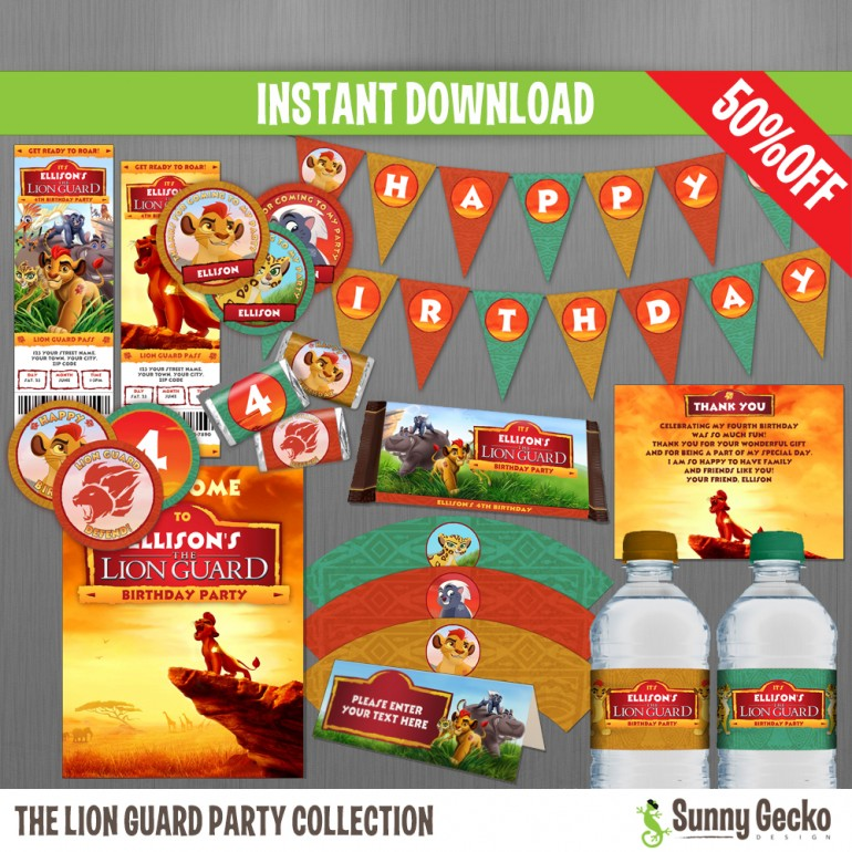 The Lion Guard Birthday Party Collection