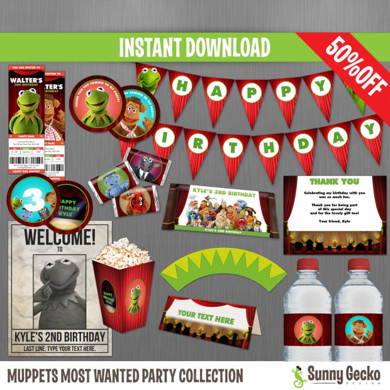 Muppets Most Wanted Birthday Party Collection