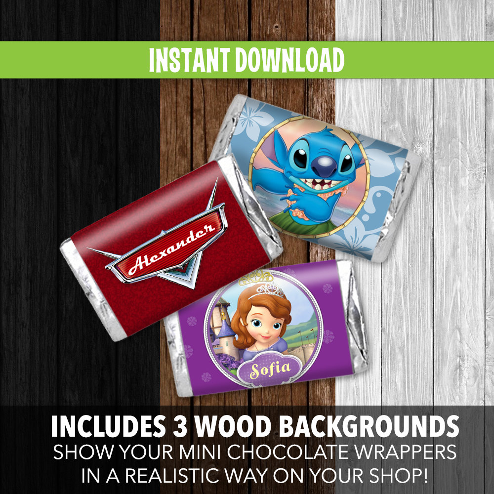 mini chocolate wrappers mockup instant download adobe photoshop